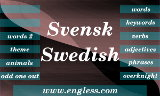 Quizzes for Swedish English