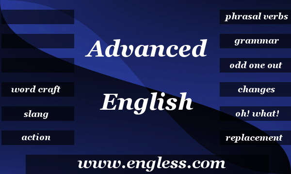 Advanced English Quizzes - Test your English with 9 Grammar and